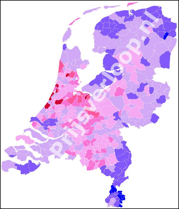 Huis muur huizenprijzen in nederland per regio for Huizenzoeker amsterdam